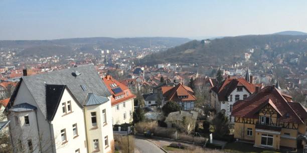 Blick über die Dächer Eisenachs.