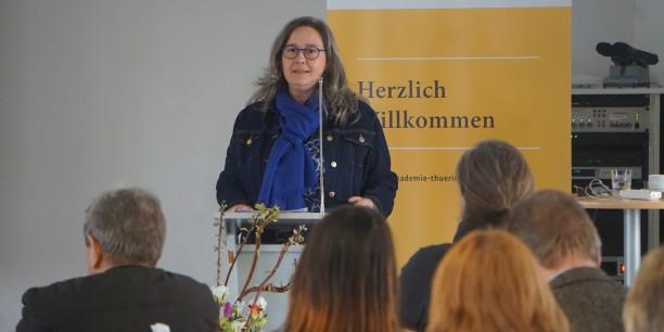 Heike Werner, Thüringer Ministerin für Arbeit, Soziales, Gesundheit, Frauen und Familie sprach über den Handlungsbedarf im Bereich der Gesundheitsvorsorge. Foto: ©Désirée Reuther.