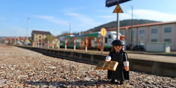 Luthers Kinder machen Halt in Meiningen. Foto: © Désirée Frahnow