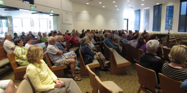 Etwa 100 Gäste waren gekommen um Prof. Dr. Michael Haspel zu hören. Foto: ©Sven Schumacher