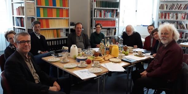 """Erste Arbeitssitzung des wissenschaftlichen Beirats des Projekts """"DENKOrte"""". Foto: © Thüringer Archiv für Zeitgeschichte"""