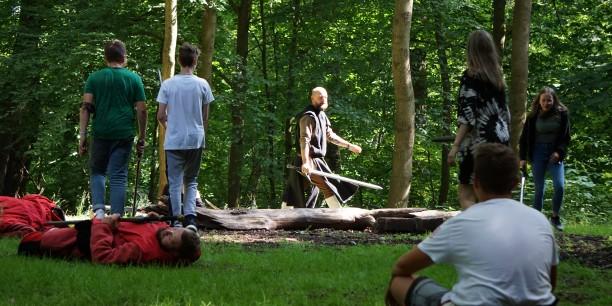 """Mittendrin im Adventure Game: Die Zeitagenten haben den """"Drachen"""" an seinem Plan gehindert und Luther kann vorerst sicher auf die Wartburg fliehen... Foto: © Gerhardt/EAT"""