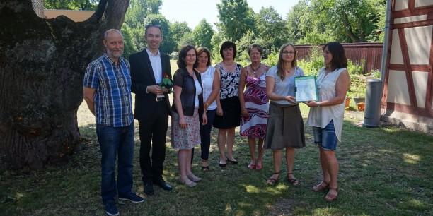 Das Umweltteam des Evangelischen Zentrums Zinzendorfhaus in Neudietendorf. Foto: ©Annekathrin Härter
