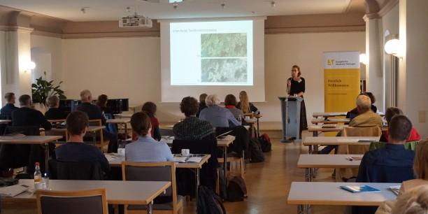 Dr. Maria Frölich-Kulik sprach beim Auftaktvortrag über urban-rurale Transformatiosprozesse. Foto: © Funk/EAT