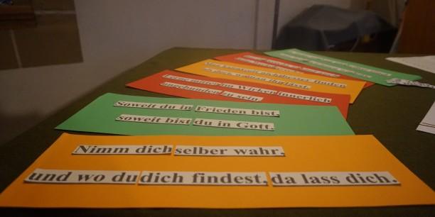 Im Mittelpunkt standen immer wieder Zitate des berühmten Thüringer Professors der Theologie. Foto: © Elena Vogel