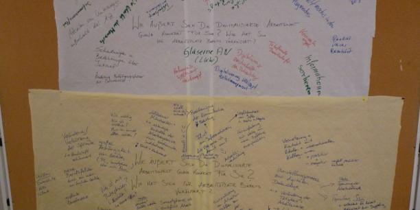 Viele Anregungen und Fragen ergaben sich aus den Arbeitsgruppen für die weiteren Diskussionen.
