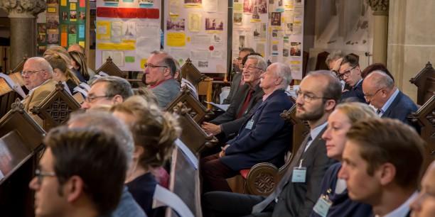 Am 30. August 2018 diskutierten rund 50 christliche Unternehmerinnen und Unternehmer in der St. Johanniskirche Gera über die Herausforderungen des digitalen Wandels im Bildungskontext. Foto: ©Andreas Kinder