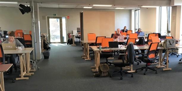 Besuch im Betahaus Hamburg: Kreative, Digitalunternehmerinnen und Start-ups schätzen die Gemeinschaftsatmosphäre im Coworking Space. Foto: Holger Lemme/EAT
