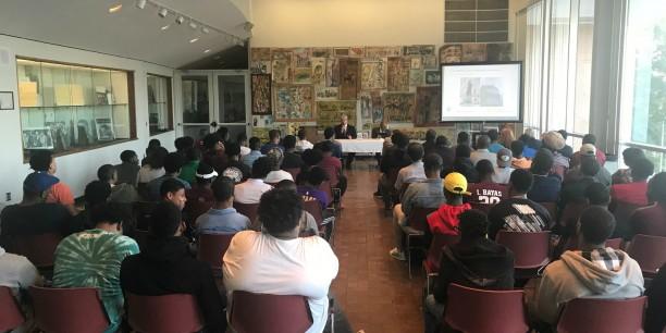 Viele interessierte Studierende hörten dem Podiumsgespräch zu. © Goethe-Zentrum Atlanta