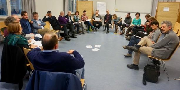 In zwei parallelen Workshops tauschten sich die Teilnehmenden aus den unterscheidlichsten Thüringer Bildungseinrichtungen aus. Foto: ©Désirée Reuther/EAT