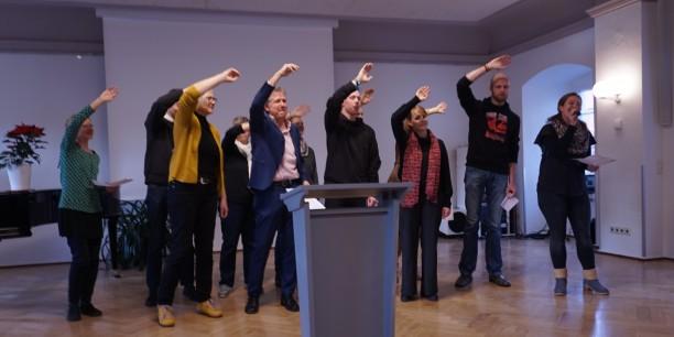 Mit einem Udo-Lindenberg-Medley verabschiedete sich das Team der Akademie am 12. Dezember offiziell von ihr. Foto: © Sophie Leins
