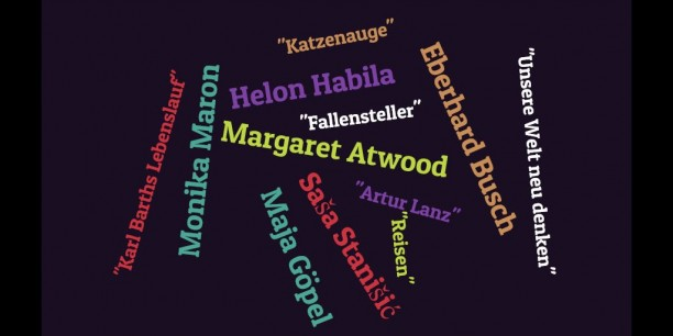 6 Autorinnen und Autoren, 6 Buchtitel - eine vielfältige Leseauswahl, präsentiert beim Literarischen Wintergarten. Graphik: © EAT