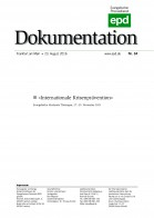 "epd-Dokumentation ""Internationale Krisenprävention"""