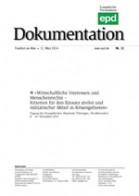 """epd Dokumentation """"Wirtschaftliche Interessen und Menschenrechte"""""""