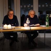 Die Münchner Übersetzerin Veronika Siska und der Prager Autor Michal Ajvaz im IBZ Erfurt am 12.12.2019. Foto: © EAT